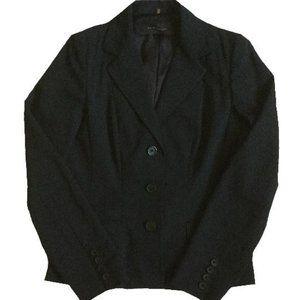 Elie Tahari Black Blazer Collared Suit Jacket Size 10